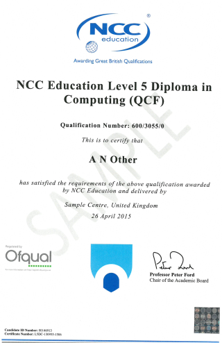 Bằng NCC Education Level 5